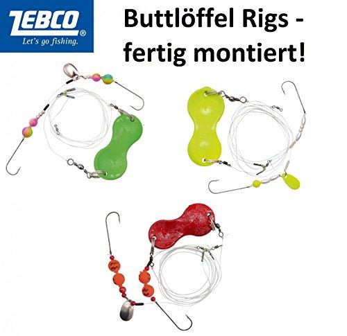 Zebco Z-Sea Flatty Teaser Rig bleifrei 2, gelb, 1,00 m