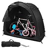 Tienda De Campaña para Bicicletas, Cubierta para Bicicletas Refugio/Almacenamiento De Bicicletas Al Aire Libre Plegable con Diseño De Ventana/Impermeable/Reutilizable,Negro