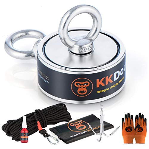 King Kong Magnetics Fishing Magnet Kit with Super Strong 1200 Lb...