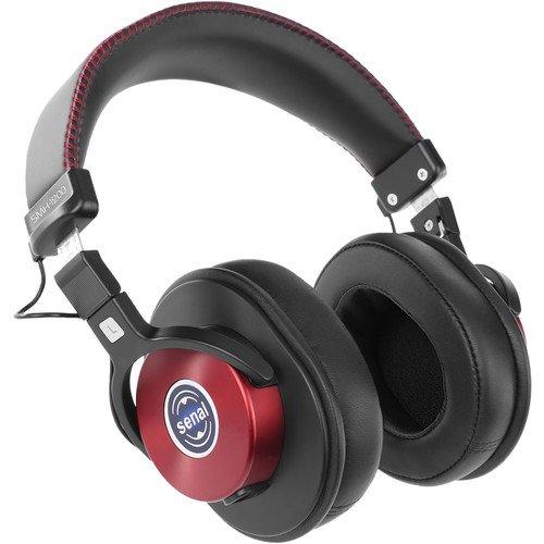 Senal SMH-1200 - Enhanced Studio Monitor Headphones (Burgundy) -