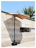 Sombrilla Parasol con Ángulo Ajustable Paraguas de parasol de patio al aire...