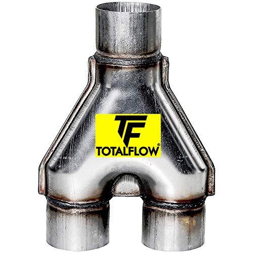 """TOTALFLOW TF-SY2525 409 Stainless Steel 2.5 Inch Y-Pipe Single / 2.5"""" Dual (Inner Diameter)"""