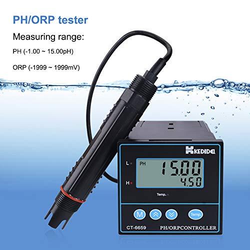 Medidor PH Digital Industrial PH / ORP Controlador para tratamiento de aguas residuales, procesamiento de alimentos, impresión y teñido, fabricación de papel, CT-6659