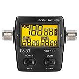 Medidor de SWR Medidor de potencia anticorrosión portátil de alta precisión digital 125-525MHZ duradero con pantalla LCD retroiluminada