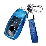 HIBEYO Funda para llave de coche inteligente compatible con Mercedes Benz A C E S G Clase AMG CLA CLS GLS Auto Carcasa Carcasa para llave de coche Carcasa Carcasa Carcasa protectora de TPU azul