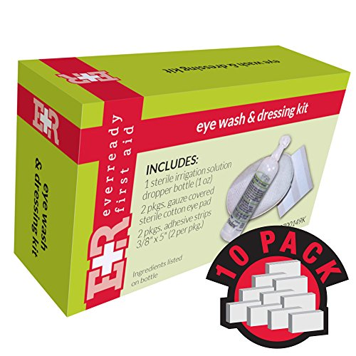 Ever Ready First Aid Eye Care Kit w/Eye Wash, In Kit Unit Box, 10 Count