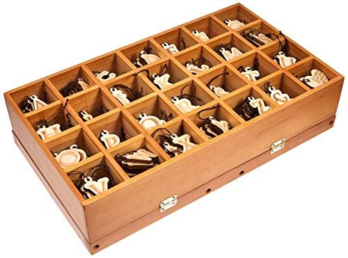 HEADS アルファベット木製ゴムタッグセット 28種×各10個 什器付 AB-SET まとめ売り 5パック