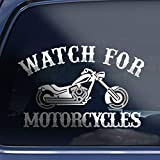 Watch for Motorcycles Decal Sticker Custom Cruiser Motorcycle Biker Decal