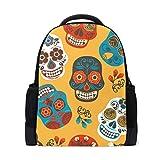 Sugar Skulls Mochila para computadora portátil, mochila escolar casual para viajes