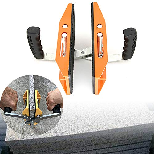 1pc Double Handed Glass Carry Clamp Handling clip Stone Ceramic Plate or Glass Carrying Lifting 5-45mm 150kg Loading Clamp USA STOCK