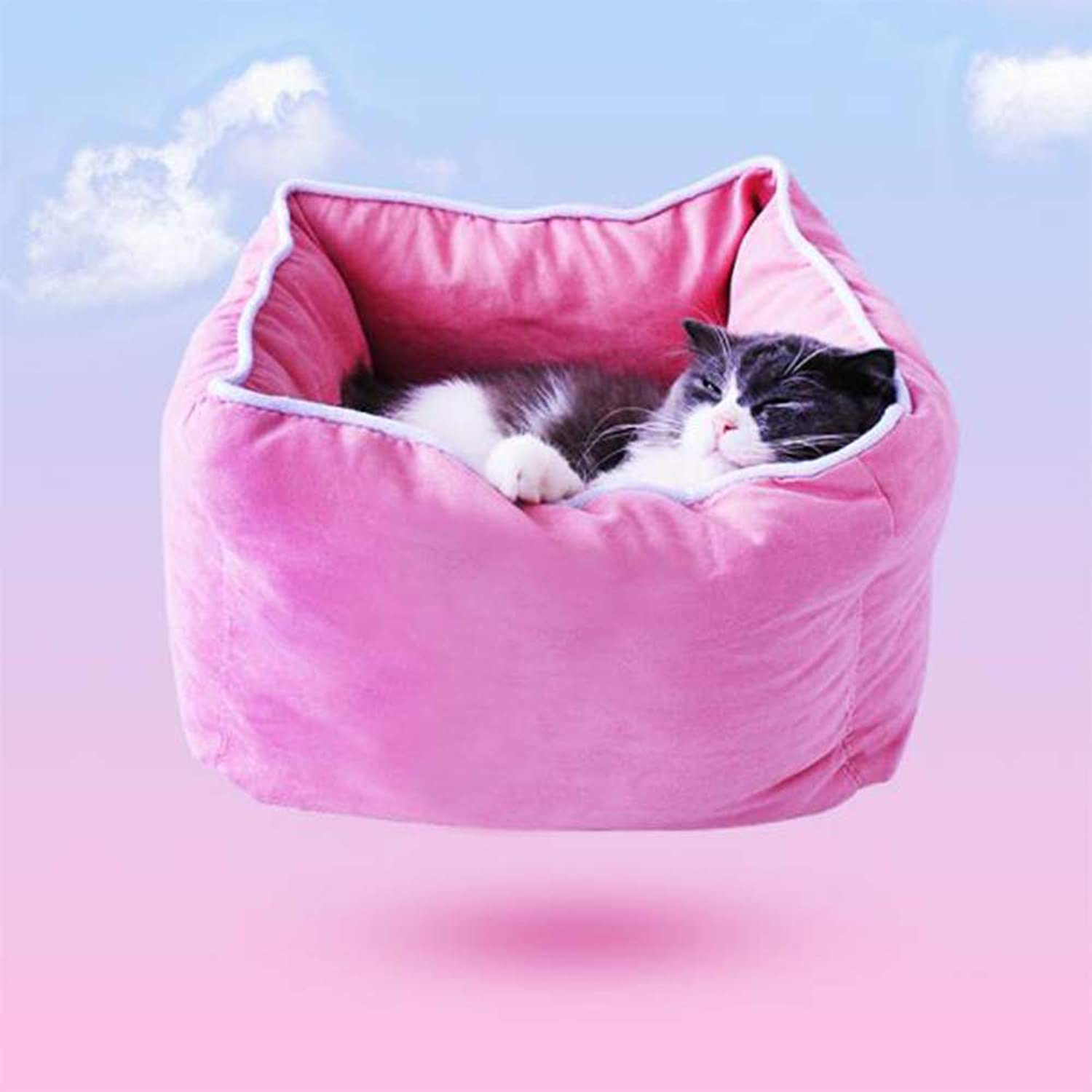 QBL (3 piece set) pet bed quilt cover and pillow comfortable and soft fully washable pet bed kennel doghouse