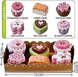 bee SMART Kuchen in der Serviertablett, 6 Stücke aus Holz