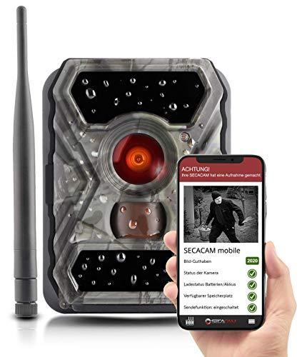 SECACAM HomeVista Mobile - Wildkamera mit SIM-Karte sendefähig (GPRS, GSM, UMTS) mit Handy-Übertragung & App (Weitwinkel 100°)