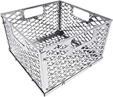BBQ-PLUS Charcoal Firebox Basket for Oklahoma Highland Bandera Longhorn, Charcoal Box, Fire Basket for Most Offset Smoker Grill, 12 W x 12 D x 7.5 H,Stainless Steel(Basket)