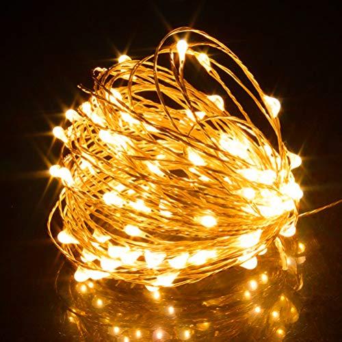 Cadena de luces LED, cortina de luz USB, luces de fuegos artificiales, lluvia de meteoritos, 10 m, 100 clips de fotos LED,cadena de luces para habitaciones, decoración impermeable para fiestas,bodas