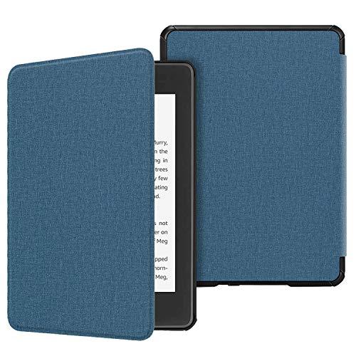 Fintie Hülle für Kindle Paperwhite (10. Generation – 2018) - Die dünnste und leichteste Schutzhülle Tasche mit Auto Sleep/Wake Funktion für Amazon Kindle Paperwhite eReader, Blaue Stunde