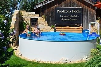 Poolzon Schwimmbecken Rundpool Fun-Zon 3,50 x 1,20m Stahlwandpool, Rundbecken, Aufstellbecken mit 0,6mm Stahlwand und 0,6mm Einhängfolie