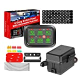 6 Gang Switch Panel Automatic Dimmable, Swatow Industries Switch Pod Electronic Relay System Circuit Control Box Universal Touch Switch Box Power System for Truck ATV UTV Wrangler Car Boat Waterproof