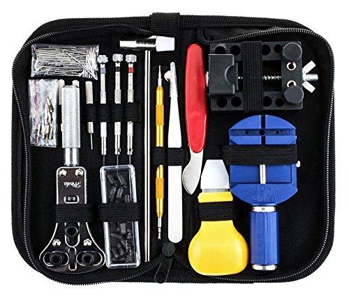 Udane Nützliches Zubehör Zubehör 1 Satz 147-teilig Uhr Reparatur Zubehör Uhrenarmband zurück unten Fall Batterie-Ausbau-Kit