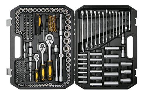 Bohell SH215 - Maletín con juego de llaves de vaso y otras herramientas, 215 piezas