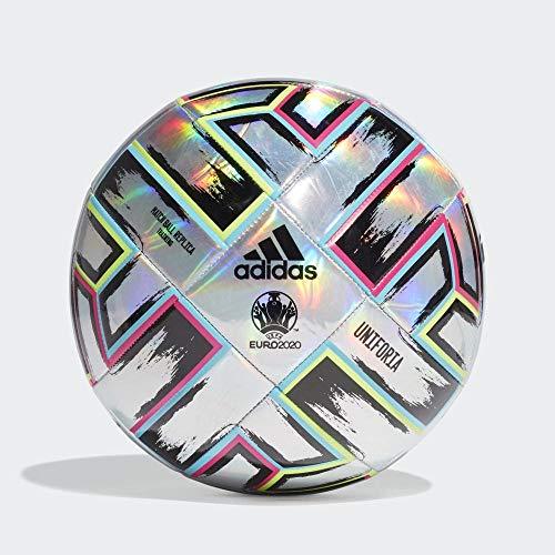 adidas UNIFO TRN Balón de Fútbol, Men's, Silver Met./Signal Green/Bright Cyan/Shock Pink, 5 ⭐