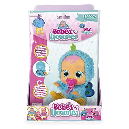 IMC Toys- Bebés llorones, Pijama Pavo Real (99166)