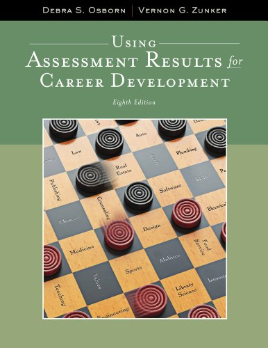 Using Assessment Results for Career Development (Graduate Career Counseling)