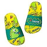WOTEG Zapatillas de piscina para niños, niñas, dinosaurio, verano, antideslizantes, suaves, para piscina, playa, playa, piscina, zapatos de agua para niños, antideslizantes, zapatos de agua de verano