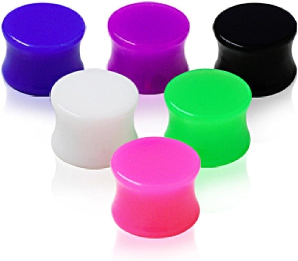 Covet Jewelry UV Acrylic Solid Saddle Plug