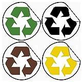 SVITA H3X15 45 Liter Mülleimer Abfallsammler Abfalleimer Mülltrennung mit Schub-Fächern Küchen-Eimer Papierkorb Allzweck - 4