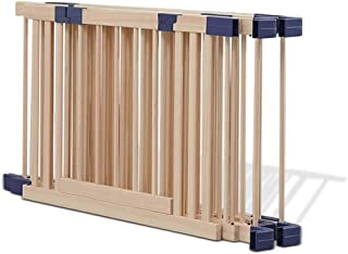 Foldable Baby Playpen, Wooden Large Playard for Living Room, Indoor/Outdoor Kids Activity Centre Fence with Gate, High 61c...