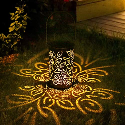 LED Solar Laterne Aussen, Solarlaterne für Außen Solarleuchte Solarlampen Hängend Deko Solarlampen Wasserdichte Solar Licht Nachtlicht für Pathway Veranda Weihnachten Dekorative Terrasse Gartendeko