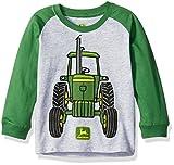 John Deere Toddler Boys Big Tractor Tee, Heather Grey/Green, 2T
