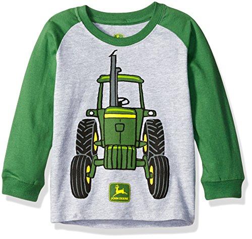 John Deere Toddler Boys Big Tractor Tee, Heather Grey/Green, 3T