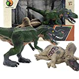 YOOUSOO Dinosaur Toys Set, 2 Pcs Realistic Dinosaur Toy for Kids 3-7 Years Old Boys and Girls, Educational Dinosaur Set for Dinosaur Lovers, Dinosaur Figures as Birthday Gifts for Toddler (Style C)