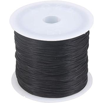 BQLZR - Hilo elástico para pulsera (0,5 mm, 60 m), color negro ...
