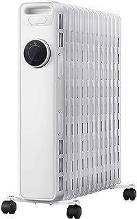 GAGYMJ Radiador De Aceite,2200 W,13 Elementos,3 Ajustes De Potencia,Control Remoto Control Termostático De Temperatura,Blanco