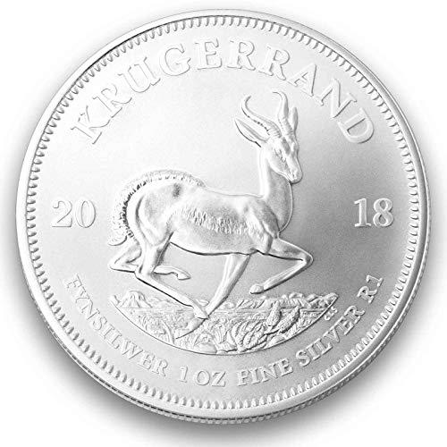 1 Unze oz Silber Krügerrand 2018 einzeln in Münzkapseln verpackt