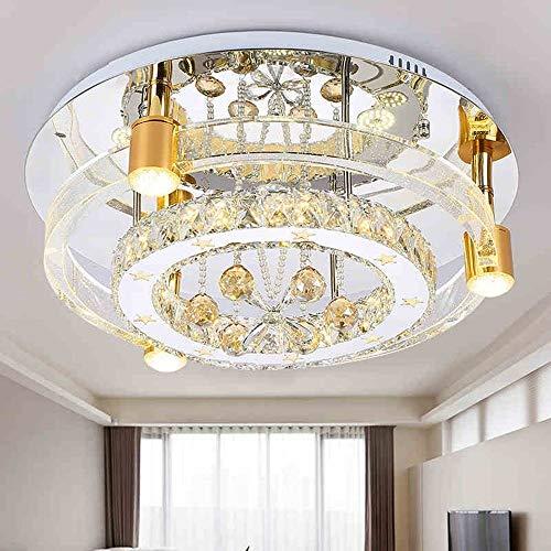 Decoratieve hanglamp hanglamp spinnen binnenverlichting driekleurig met afstandsbediening LED slaapkamer bubble zuil glas rond plafondverlichting woonkamer is Senc 50 cm.