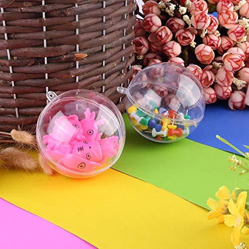 Uten 20 pcs Bolas de Transparente Navidad Bola de Plástico Rellenable Bolas de Bricolaje para Fiestas Bodas, 8cm