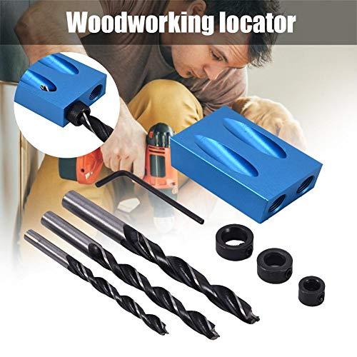 pegtopone Pocket Loch Jig Kit 14PCS, 6/8/10mm 15 ° Bit Winkelantriebsadapter Für Holzbearbeitung Winkel Bohren Löcher Guide Holz Werkzeuge Doweling Lochsäge & DIY Tischlerei Werkzeug Set