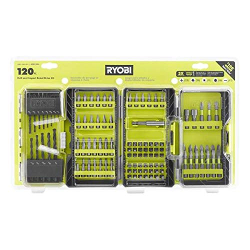 Ryobi (A981205) 120 Piece Set Multi-Material Drill and Impact Rate Drive Kit