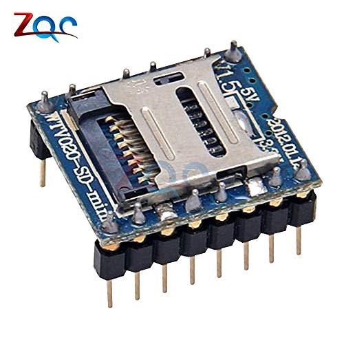WTV020 WTV020-SD WTV020SD-20SS Mini SD Card MP3 Sound Modul für Arduino PIC WTV020-SD-16P