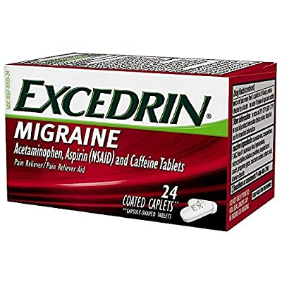 Treats migraines Relieves migraine pain starting in just 30 minutes, plus nausea and sensitivity to light and/or sound Acetaminophen, aspirin, and therapeutically active caffeine