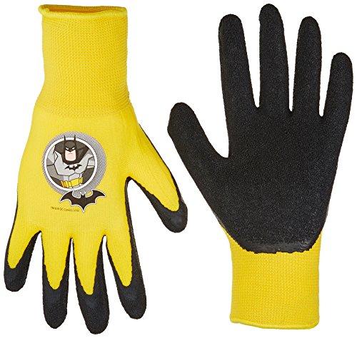 SFB100T-T-DC-12 Batman Gripping Gloves, Toddler, Yellow/Black - Midwest Gloves & Gear SFB100T-T-AZ-6