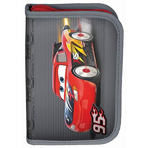Kinder FEDERTASCHE 22-TEILIG - Disney Pixar Cars - GRAU/ROT