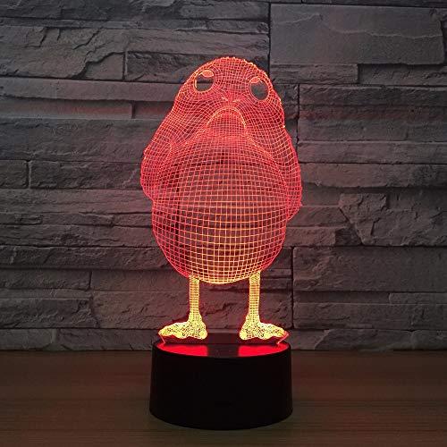 Die Diashow hat eine kleine vogelförmige Lampe als dekoratives Licht, um den Kindern EIN Geburtstagsgeschenk zu Machen.