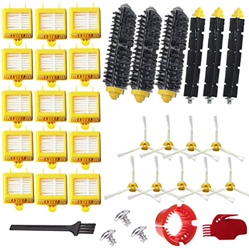 VacuumPal Replacement Parts Kit Hepa Filters & Bristle Brush & Flexible Beater & Armed-3 Side Brush & Cleaning Tools for...