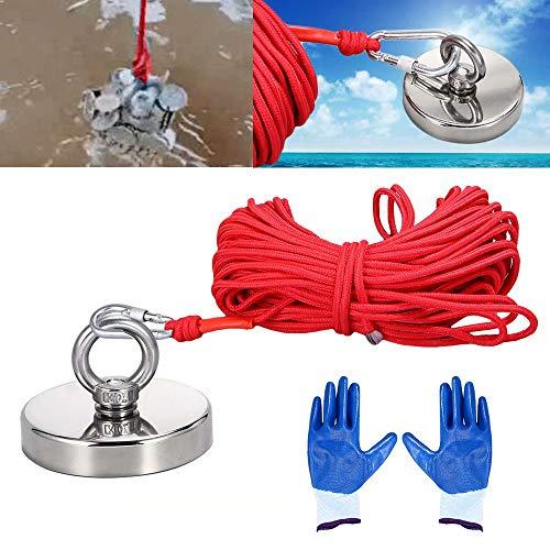 KingFurt Hoge Kwaliteit 90mm Herstel Visserij Magneet Haak Touw Handschoenen Combinatie Kit