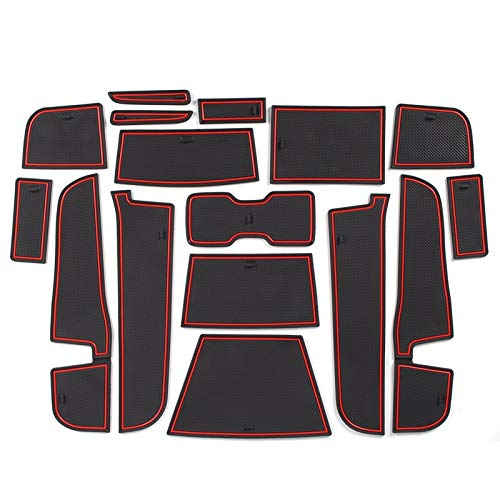 SYJY-SHOP Auto Non-Slip-Tor Slot Pad Cup Mats nur for MAXUS T60 / T70-Tür-Slot-Matten-Auto Innen Anti-Skid-Pad (Farbe : Red)